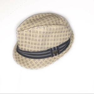 Mad Hatter Cream Hat with Grey Ribbon